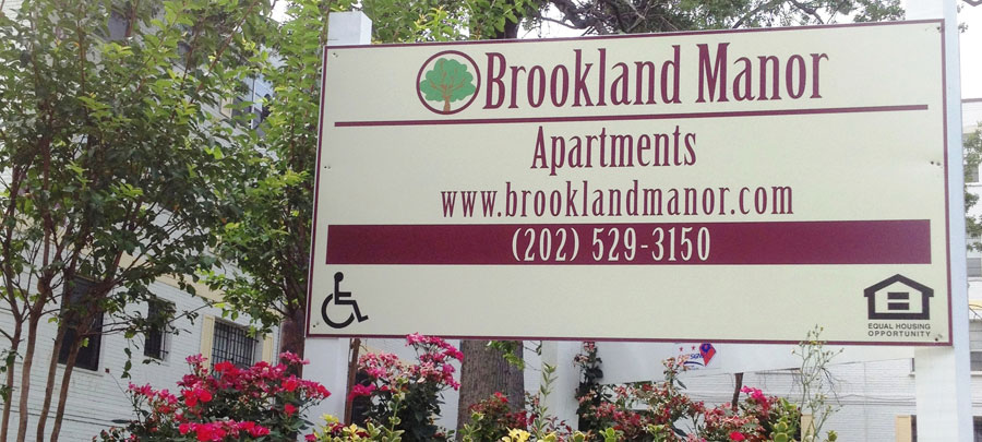 Brookland Manor Sign
